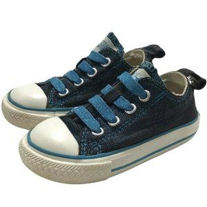 Converse Infant Girl Size 5 Black Blue Sneakers